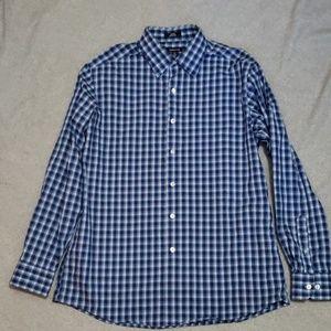 Claiborne Size 16.5 (34/35) Blue Men's Button Up